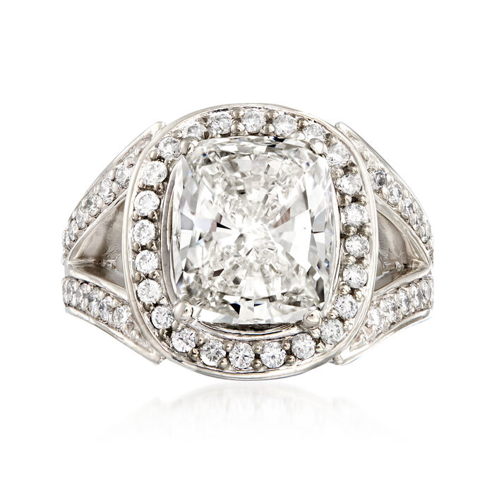 Majestic Collection 6.18 ct. t.w. Certified Diamond Ring in Platinum. Size 6