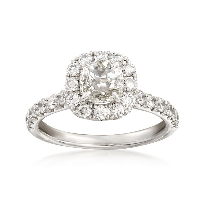 Henri Daussi 1.75 ct. t.w. Certified Diamond Engagement Ring in 18kt White Gold, , default