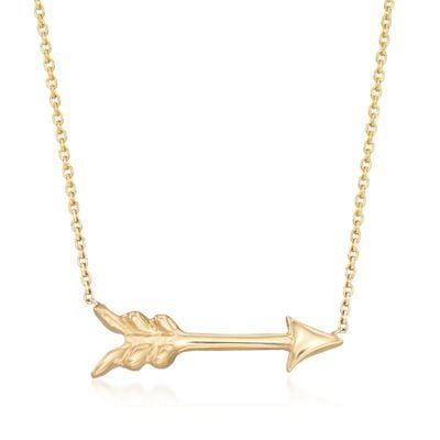Roberto Coin 18kt Yellow Gold Arrow Necklace, , default