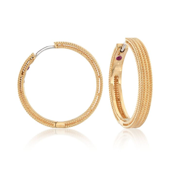 Roberto Coin Symphony Barocco 18-Karat Yellow Gold Hoops, , default