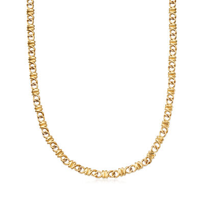 C. 1990 Vintage Tiffany Jewelry 18kt Yellow Gold Necklace, , default