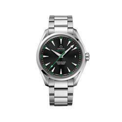 Omega Seamaster Aqua Terra Golf Men's 41.5mm Stainless Steel Watch With Black and Green Dial, , default