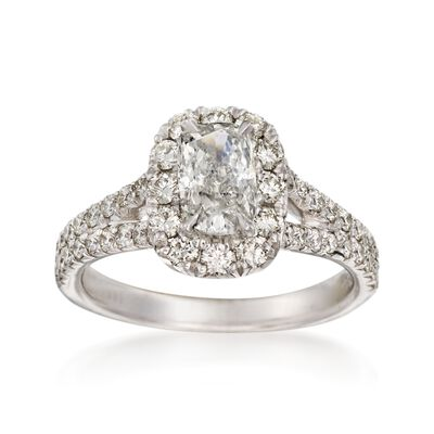 Henri Daussi 1.68 ct. t.w. Diamond Engagement Ring in 18kt White Gold, , default