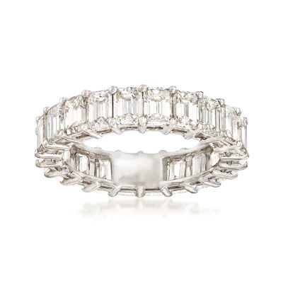 5.00 ct. t.w. Emerald-Cut Diamond Eternity Band in Platinum