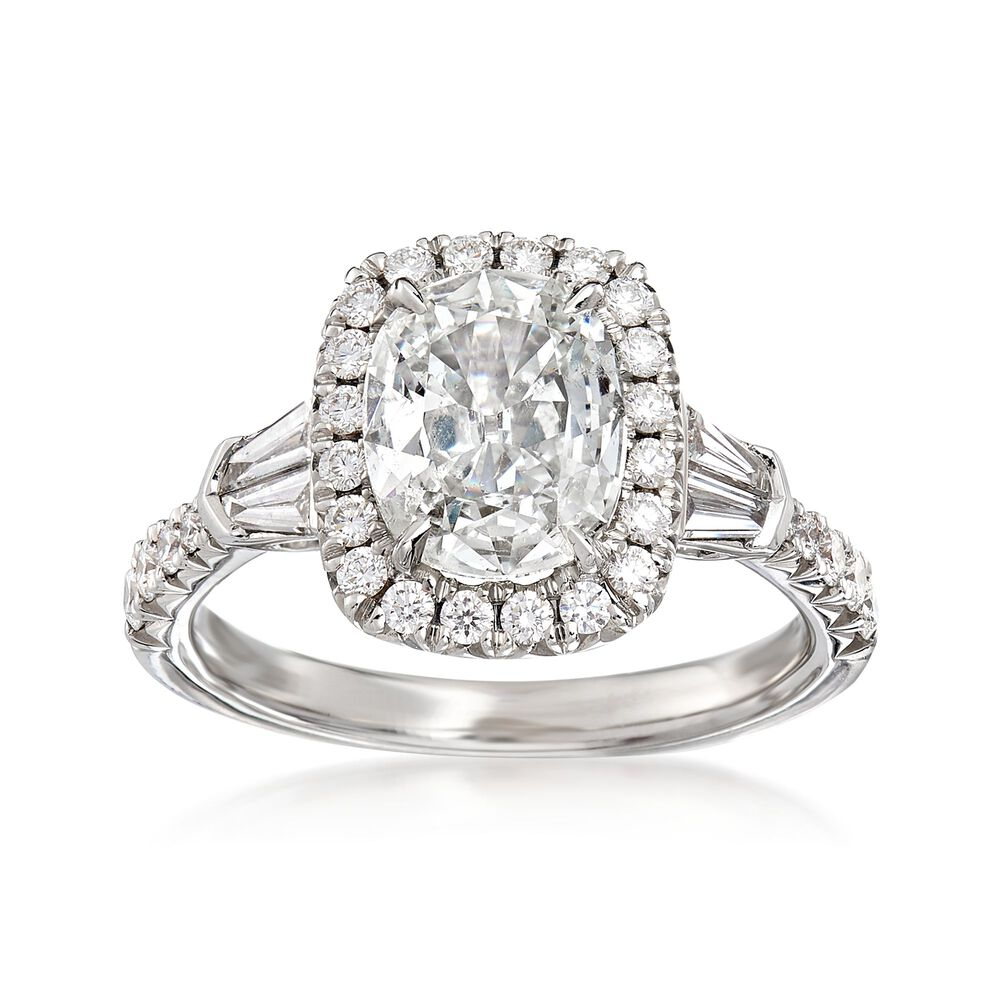 Henri Daussi 2 28 Ct T W Certified Diamond Engagement Ring In 18kt White Gold
