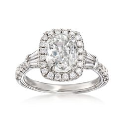 Henri Daussi 2.28 ct. t.w. Certified Diamond Engagement Ring in 18kt White Gold, , default