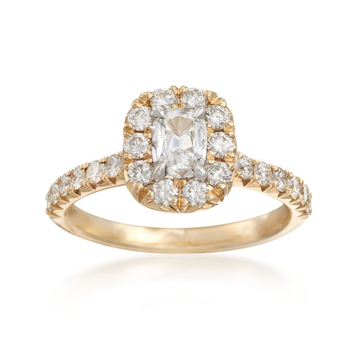 Henri Daussi 1.14 ct. t.w. Diamond Engagement Ring in 14kt Yellow Gold