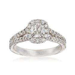 Henri Daussi 1.21 ct. t.w. Diamond Engagement Ring in 14kt White Gold, , default
