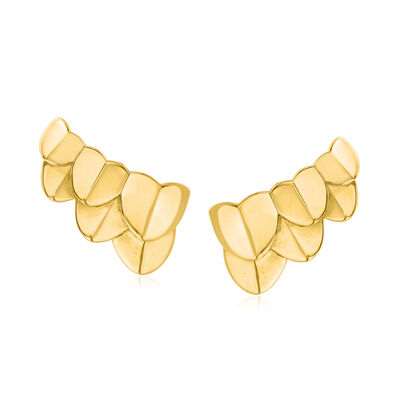 """C. 1990 Vintage Fred """"Une Ile D'Or"""" 18kt Yellow Gold Earrings"""