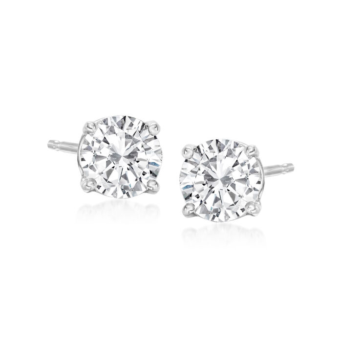 1.00 ct. t.w. Diamond Stud Earrings in 14kt White Gold