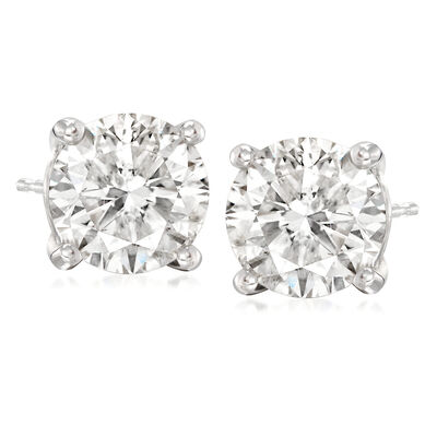 4.75 ct. t.w. Diamond Stud Earrings in 14kt White Gold, , default