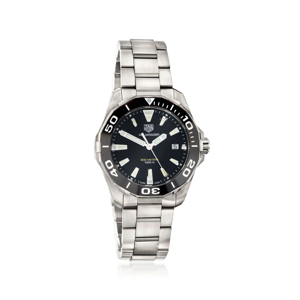608e2d998976 TAG Heuer Aquaracer 41mm Men's Stainless Steel Watch with Black Dial, ,  default