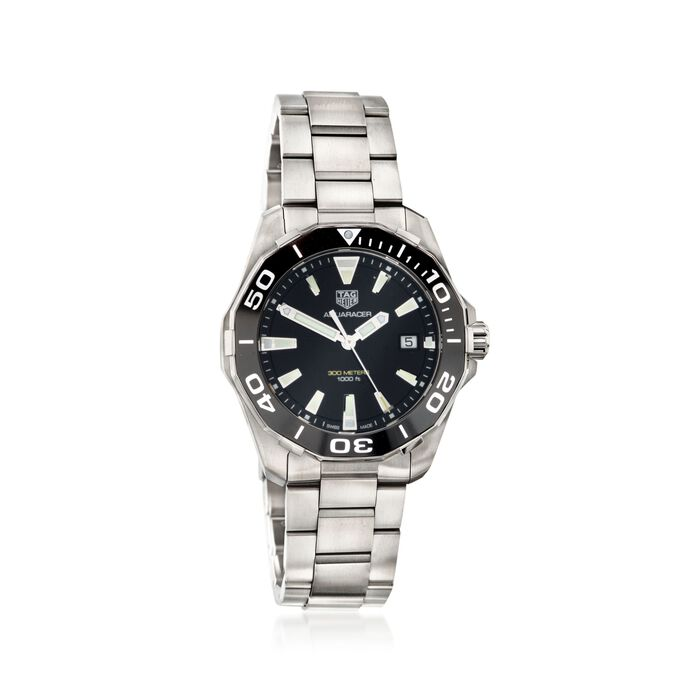 TAG Heuer Aquaracer 41mm Men's Stainless Steel Watch with Black Dial, , default