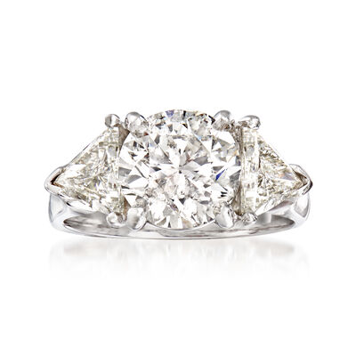 Majestic Collection 4.30 ct. t.w. Diamond Ring in 14kt White Gold, , default