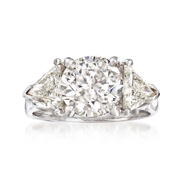 Majestic Collection 4.30 ct. t.w. Diamond Ring in 14kt White Gold