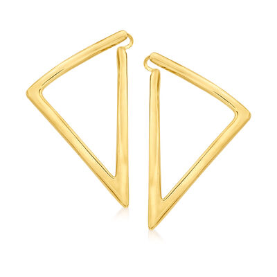 """Roberto Coin """"Oro"""" 18kt Yellow Gold Triangle Earrings"""