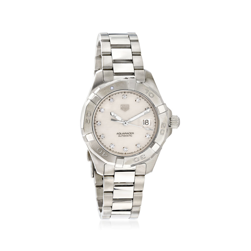 bb421231ba3 TAG Heuer Aquaracer 32mm Women s Automatic Stainless Steel Watch with  Diamonds