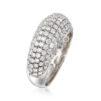 C. 1990 Vintage 1.77 ct. t.w. Pave Diamond Ring in 18kt White Gold. Size 6.5
