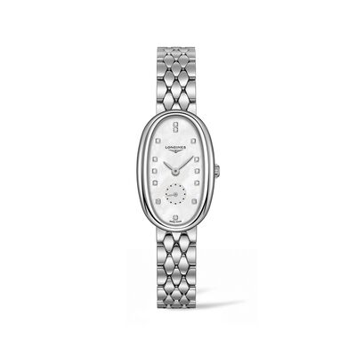 Longines Symphonette Women's 22x34mm Stainless Steel Watch with Diamond Accents