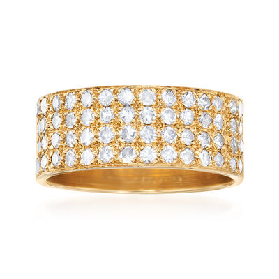 C. 1980 Vintage 1.10 ct. t.w. Pave Diamond Ring in 14kt Yellow Gold, , default