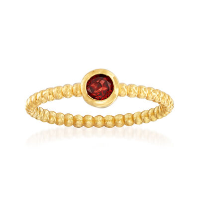 "Phillip Gavriel ""Popcorn"" .30 Carat Garnet Beaded Ring in 14kt Yellow Gold, , default"