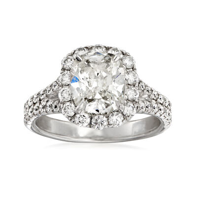 Henri Daussi 3.15 ct. t.w. Diamond Engagement Ring in 18kt White Gold, , default